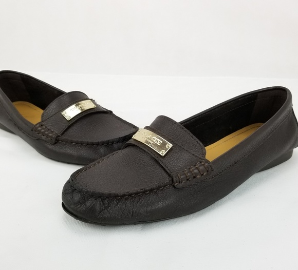 1ab59609be6 Coach Shoes - COACH Fredrica Black Pebbled Leather Loafers Step